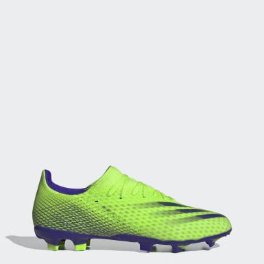 ผู้ชาย ฟุตบอล สีเขียว รองเท้าฟุตบอล X Ghosted.3 Firm Ground