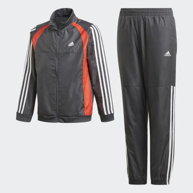 Boys Training Grey Woven Track Suit