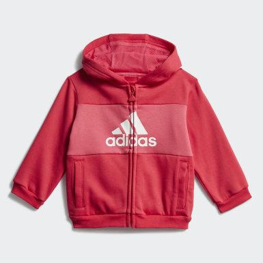 Børn Træning Pink Logo Hooded joggingsæt
