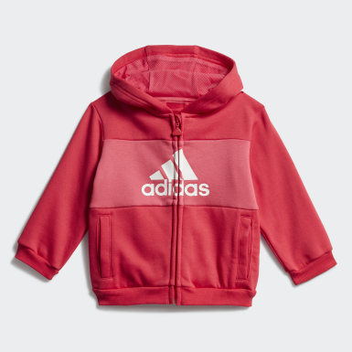Tuta Logo Hooded Rosa Bambini Training