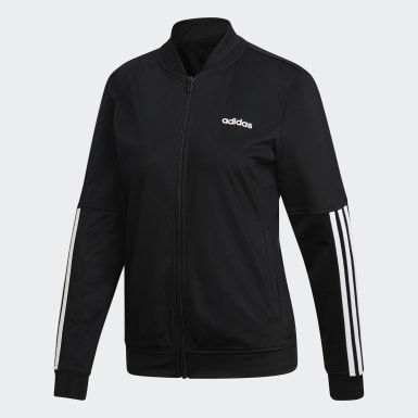 Women Training Black Back 2 Basics 3-Stripes Track Suit