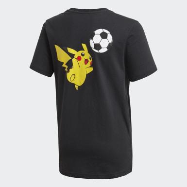 T-shirt Pokémon noir Adolescents Entraînement