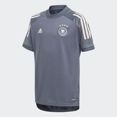 Camisola de Treino da Alemanha Cinzento Rapazes Futebol