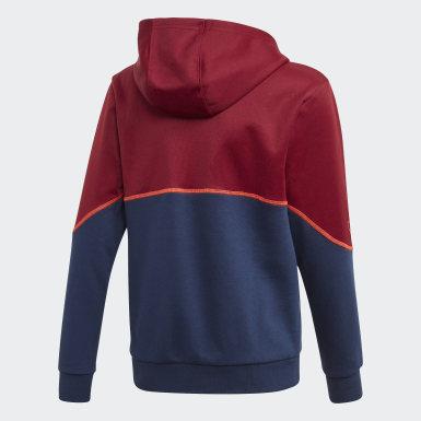 Chaqueta con capucha Outline Burgundy Niño Originals