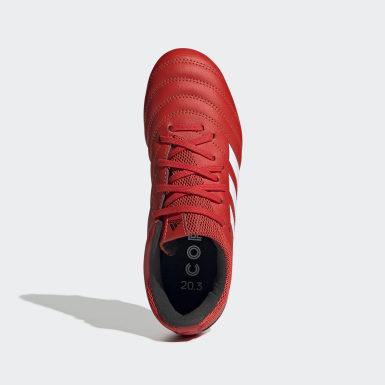 Botines de fútbol Copa 20.3 césped natural seco Rojo Niño Fútbol
