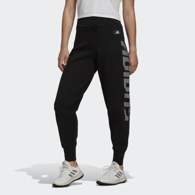 Women Athletics Black Knit Pants