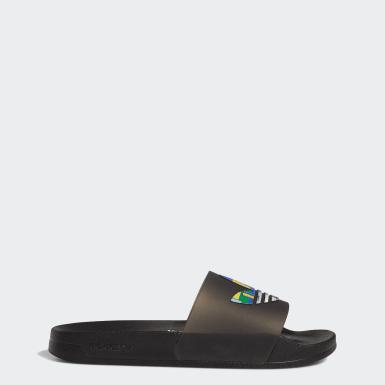 Originals สีดำ รองเท้าแตะ Adilette Lite Pride