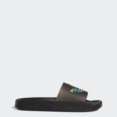Men Originals Black Adilette Lite Pride Slides