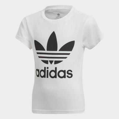 T-shirt Trefoil Branco Criança Originals