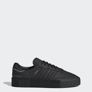 Swarovski® SAMBAROSE Shoes Czerń