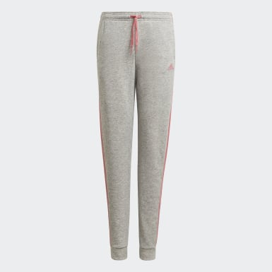 Girls Sport Inspired Grey adidas Essentials 3-Stripes French Terry Pants