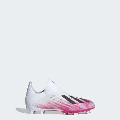 Chaussure X 19+ Terrain souple Blanc Enfants Football