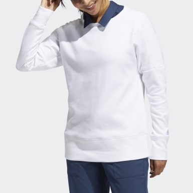 Women Golf White Go-To Crew Sweatshirt