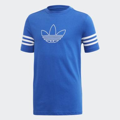 синий Футболка Outline