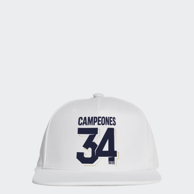 Football White REAL MADRID 2020 SPANISH CHAMPIONS CAP