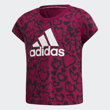 Girls Training Burgundy Must Haves Graphic Tee