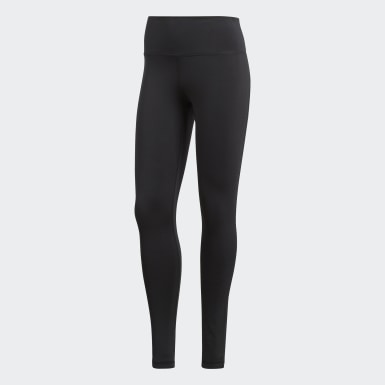 Kvinder Yoga Sort Believe This Solid tights
