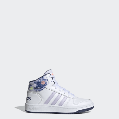 Zapatillas Hoops Mid 2.0 Blanco Niño Essentials
