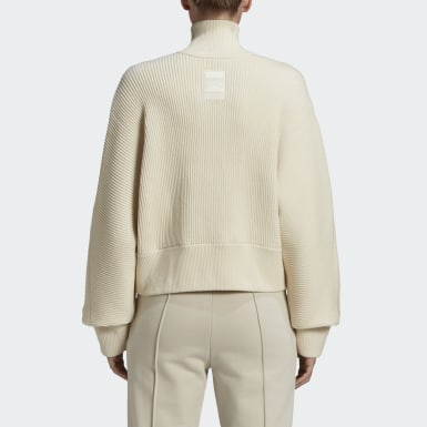 Women Y-3 White Y-3 CH3 High Neck Sweatshirt