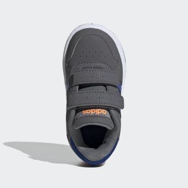 Kinder Basketball Hoops 2.0 Schuh Grau