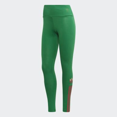 T-shirt Trefoil 3D Adicolor Verde Mulher Originals