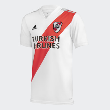 Camiseta Local River Plate Blanco Niño Fútbol