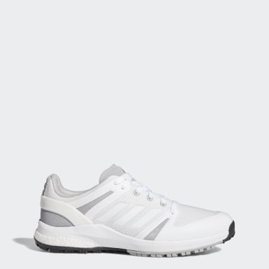 Men Golf White EQT Spikeless Wide Golf Shoes