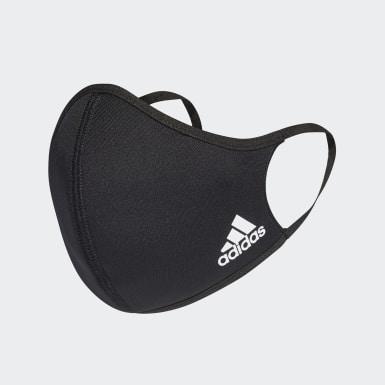 Tapabocas de tela adidas TALLA XS/S (PACK DE 3) Negro Niño Training