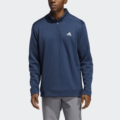 Men Golf Blue Club Quarter-Zip Pullover