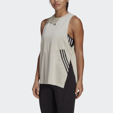 Frauen Athletics Oversize Tanktop Beige
