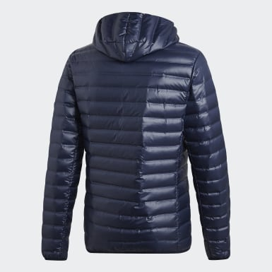 Men Urban Outdoor Blue Varilite Hooded Down Jacket