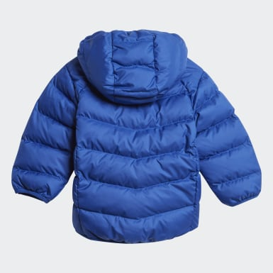 Real Down Jacket Niebieski