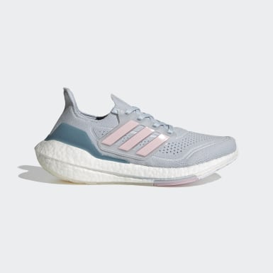 Sapatos Ultraboost 21 Azul Mulher Running