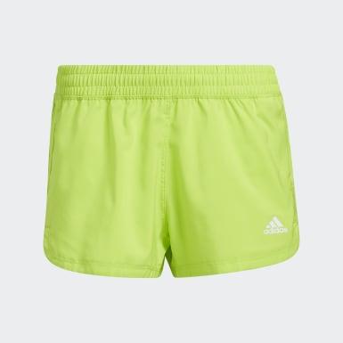Shorts Woven 3 Franjas Verde Mujer Training