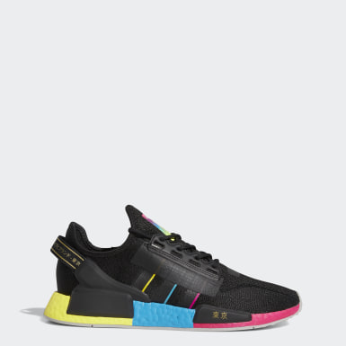 Men Originals Black NMD_R1 V2 Tokyo Nights Shoes