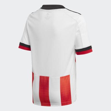 Camisola Principal 20/21 do Sheffield United Branco Rapazes Futebol
