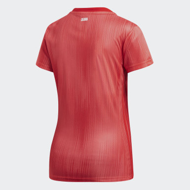 Dames Voetbal Rood Real Madrid Derde Shirt