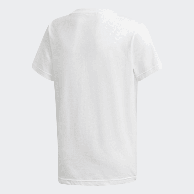 Youth Originals White Trefoil Tee
