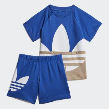 синий Комплект: футболка и шорты Trefoil Large