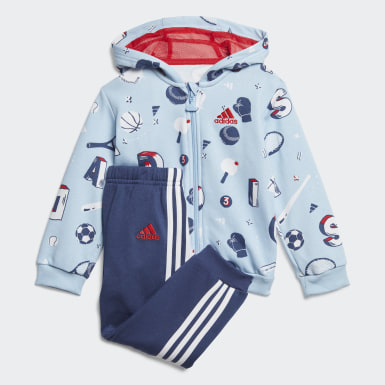 Kids Training Blue Graphic Jogger Set
