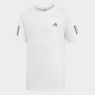Camiseta Club 3 bandas Blanco Niño Pádel
