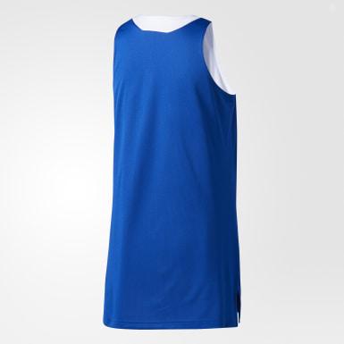 Dames Basketbal Blauw Dubbelzijdig Crazy Explosive Basketbalshirt
