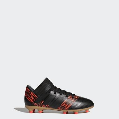Boys Football Black Nemeziz 17.3 Firm Ground Boots