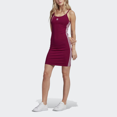 Dames Originals Bordeaux Spaghetti Strap Jurk