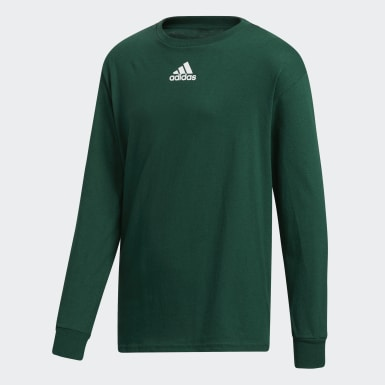 Youth Training Green Y LS AMPLIFIER TEE -TEAM