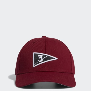 Men Golf Burgundy Golf Flag Hat