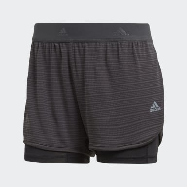 Shorts Dos-en-Uno Chill Gris Mujer Training