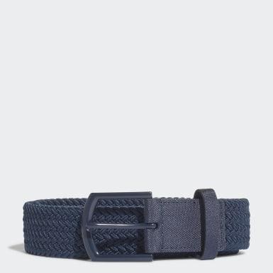 Cintura Braided Stretch Blu Golf