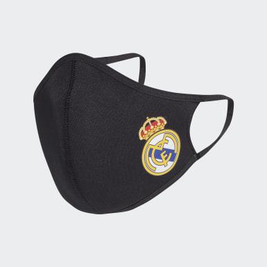 Athletics Sort Real Madrid 3-Pack ansigtsklæder, XS/S