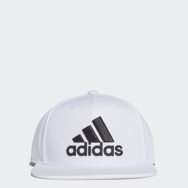 Training White Snapback Logo Cap